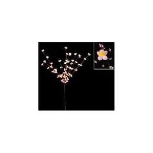 Enchanted Garden Lighted Pink Flower Tree Branch Spray