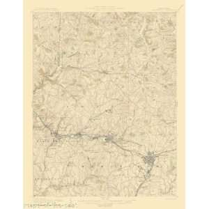 USGS TOPO MAP GREENSBURG QUAD PENNSYLVANIA/PA 1906