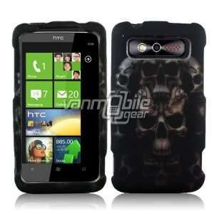 Trophy Case   Black Tribal Tattoo Skull Design Hard 2 Pc Cover Cover