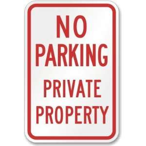 Private Property High Intensity Grade Sign, 24 x 18