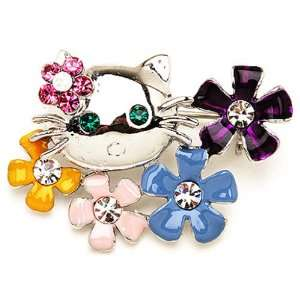 Brooch french touch Hello Kitty flower. Jewelry