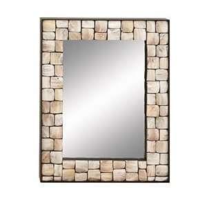 Beautiful Metal Tile Wall Mirror