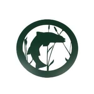 Metal Wall Hanging Forest Green Trout