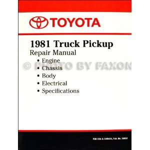 Toyota Pickup Truck Repair Shop Manual Factory Reprint Toyota Books