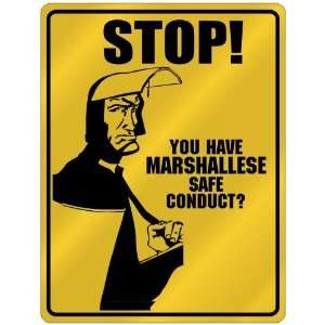 New  Stop   You Have Marshallese Safe Conduct  Marshall Islands