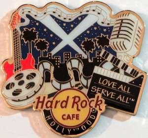 Hard Rock Cafe HOLLYWOOD UNIVERSAL City T MAGNET ALTERNATIVE Style