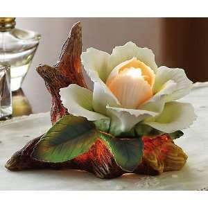 White Rose Porcelain Decorative Night Light