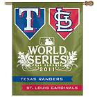 CARDINALS   TEXAS RANGERS ~ 2011 World Series House Flag Banner ~ New