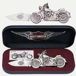 Harley Davidson Fat Boy Die Cast Motorcycle Knife