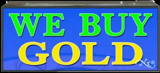 NEW LIGHT BOX SIGN WE BUY GOLD  LB013 led neon open