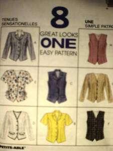 UNCUT McCalls Pattern Misses Fitted Top 8222 SEWING OOP