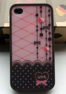 Sweet Love & Heart Girls Gift Hard Cover Case For Apple Iphone 4 4G