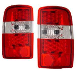 com 2000 2006 Chevy Suburban KS LED Red/Clear Tail Lights Automotive