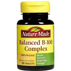 Nature Made Balanced Vitamin B Complex 100 mg Tabs, 60 ct