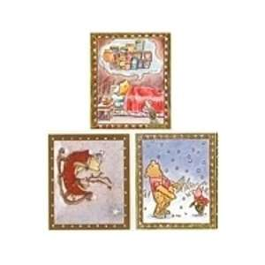 Classic Pooh Christmas themed Scrapbooking Stickers Toys
