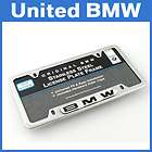 Genuine BMW Polished Stainless Steel License Plate Fram