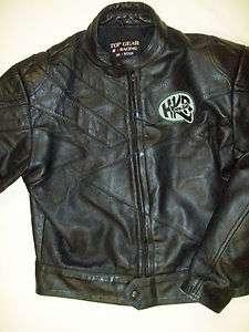 Vintage Top Grain Heavy Black Leather Top Gear German Bike Racing