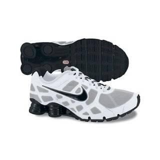 Nike Shox Turbo+ 12 Mens Running Shoes [454166 100] White / Black Cool