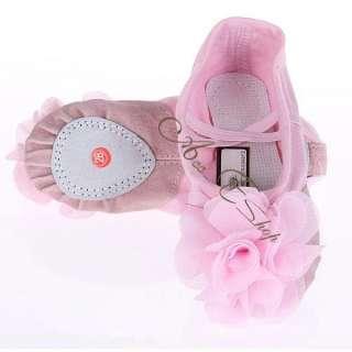 Girl Flower Canvas Ballet Dancing Fitness GYM Shoes Slipper (16 20.5