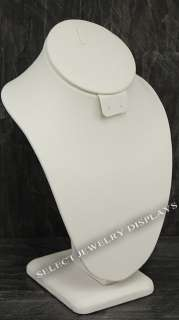 10 item 189 7bl w white leather necklace earring combo display 10 h