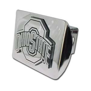 Ohio State University Buckeyes Chrome Trailer Hitch Cover