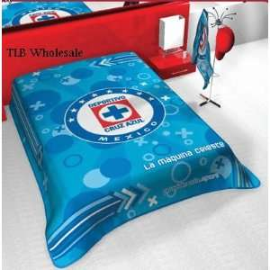 Cruz Azul Licensed Team Blanket Full Size