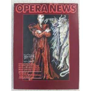 Opera News Magazine. March 3, 1990. Single Issue Magazine
