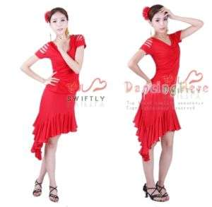 NEW Latin Salsa Ballroom Dance Dress Top & skirt #P084