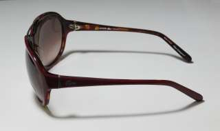 NEW LACOSTE 12640 RED/SHINY GOLD FRAME BROWN LENS SUNGLASSES WOMENS