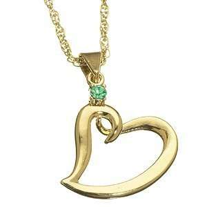 Mothers Birthstone Heart Charm Pendant May Jewelry