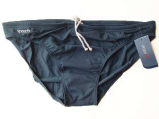 NWOT Speedo Endurance Mens Brief Bikini Bathing Suit Dark Gray Size