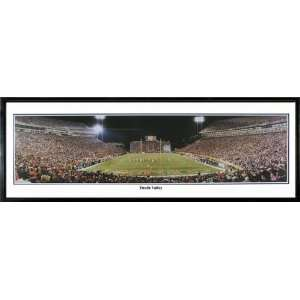 Clemson Tigers Clemson Memorial Stadium Panoramic Print Death Valley