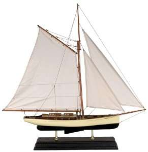 Nautical Decor 1930 Classic Yacht Wooden Model Sailboat