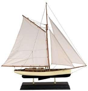Nautical Decor 1930 Classic Yacht Wooden Model Sailboat