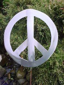 PEACE SIGN SYMBOL THE 70s METAL YARD ART GARDEN STAKE