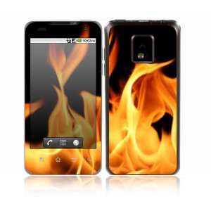 Flame Design Decorative Skin Cover Decal Sticker for LG T