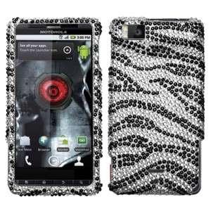 Zebra Crystal Bling Case Phone Cover Motorola Droid X2