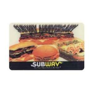 Phone Card Subway Anniversary The Place Where Fresh Is The Taste