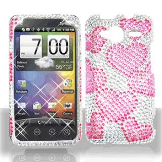 Raining Hearts Crystal Bling Case Phone Cover HTC EVO Shift 4G