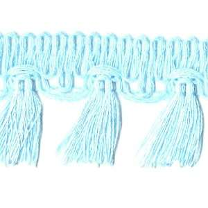 Ribbon 2 Inch Tassel Fringe, 5 Yard, Light Blue Arts, Crafts & Sewing