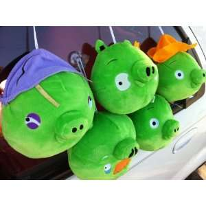 of 5 Iphone game angry birds pigs soft plush toy(cute) Toys & Games