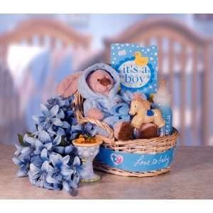 Welcome Baby Boy Gift Basket Toys & Games