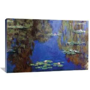 Monet   Water Lilies   Gallery Wrapped Canvas   Museum