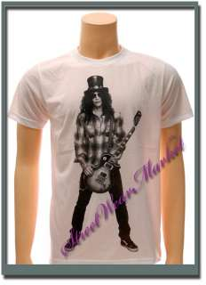 Slash Gun n Roses Rock Band Guitar Black T shirt Sz L