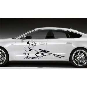 ANIME MANGA GIRL WITH GUN CAR VINYL STICKER D1520: Home