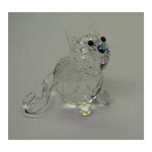 Crystal Adorable Sitting Kitty Cat Figurine