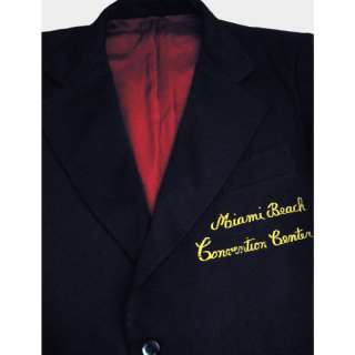 70s MIAMI BEACH CC Mens Retro Blazer Coat Doorman Uniform