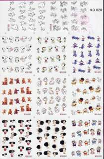BIDDING ON 3 PCS LARGE SHEET NAIL STICKER, WE HAVE DIFFERENT SHEETS