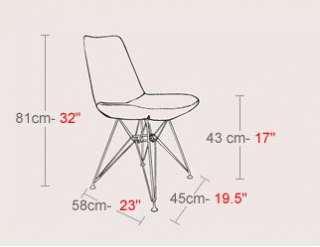 Mid Century Modern Designer Eiffel Leather Dining Chair |