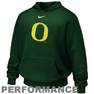 Nike Oregon Ducks Youth Green Therma Fit Performance Pullover Hoody